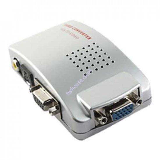 VGA to TV AV Composite RCA S-Video Converter Box Adaptor for Computer Laptop PC