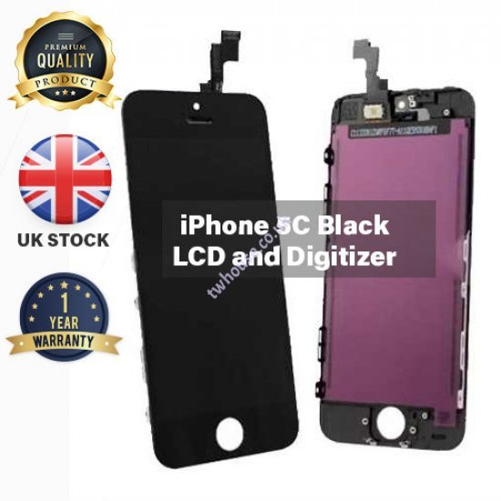 Generic High Quality Replacement LCD & Digitizers Compatible with iPhone 5C (Black)