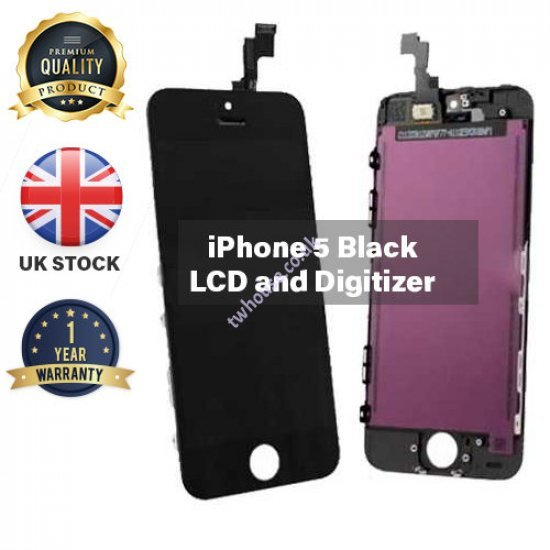Generic High Quality Replacement LCD & Digitizers Compatible with iPhone 5 (Black)