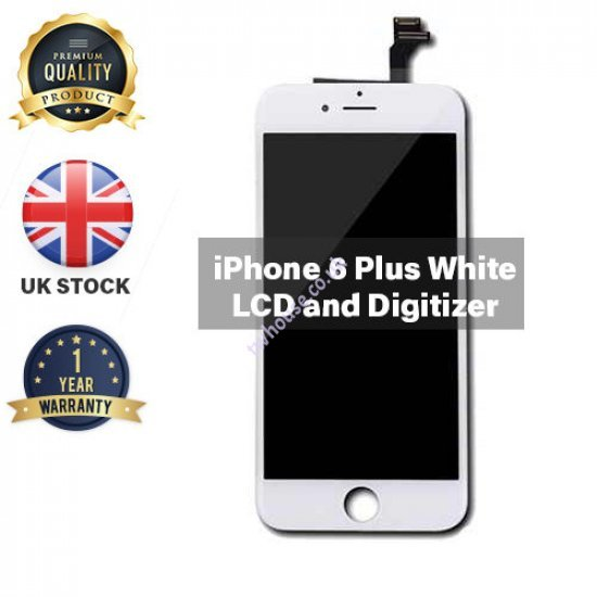 Generic High Quality Replacement LCD & Digitizers Compatible with iPhone 6 Plus (White)
