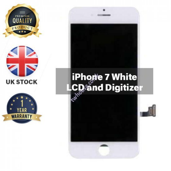 Generic High Quality Replacement LCD Compatible with iPhone 7 (White)