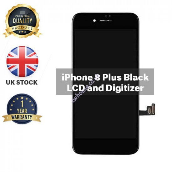Generic High Quality Replacement LCD Compatible with iPhone 8 Plus (Black)