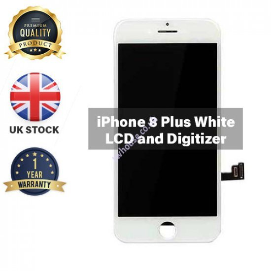 Generic High Quality Replacement LCD Compatible with iPhone 8 Plus (White)