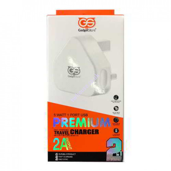 2.1A Gadget Store 2-In-1 Fast Charger Kit Compatible with iPhone