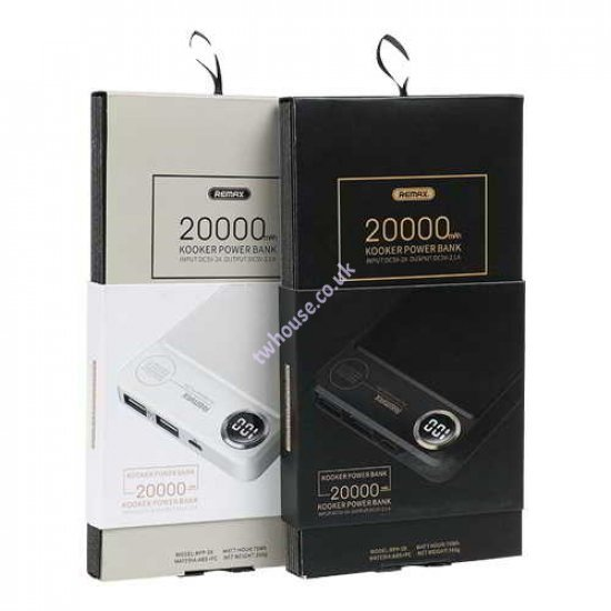 Remax RPP-59 Kooker Series 20000mAh Power Bank with Light Power Indicator (Black)