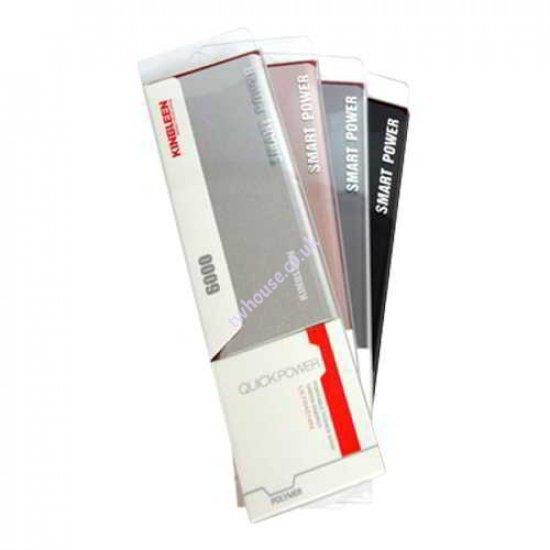 308S 6000mAh Super Slim Metallic Power Bank