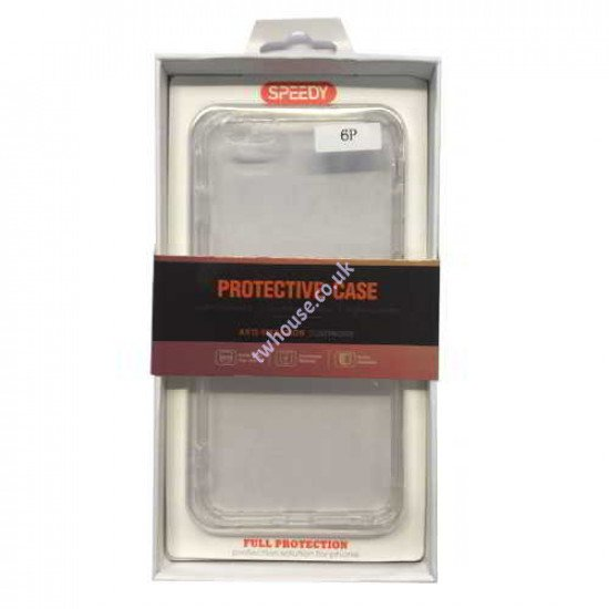 Clear Hard Protective Case Compatible with iPhone 6 Plus