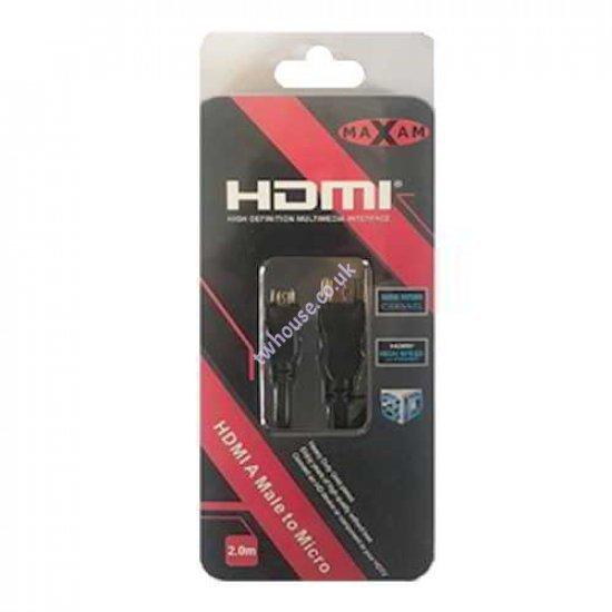 MAXAM 1.8M HDMI to Micro HDMI M-M Cable