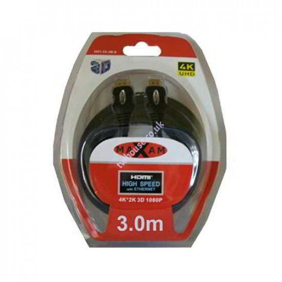 MAXAM 3M HDMI to HDMI Cable Blister Pack