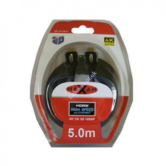 MAXAM 5M HDMI to HDMI Cable Blister Pack