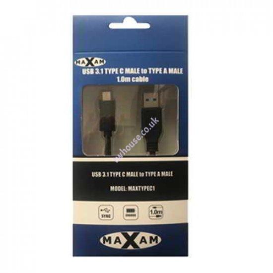 MAXAM USB 3.0 TYPE A(M) - USB 3.0 TYPE C (M) 1M Cable