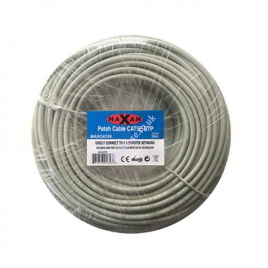 MAXAM Cat5e Moulded 20M Network Patch Lead (Grey)