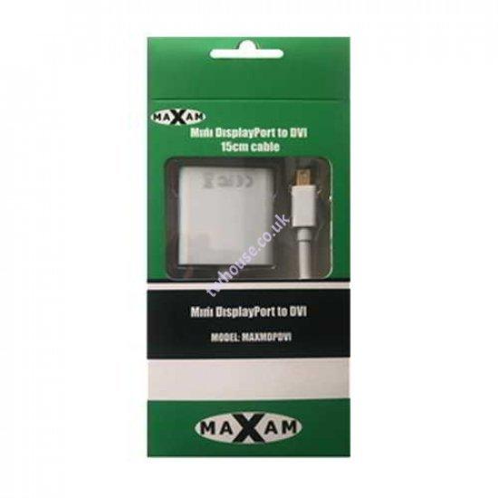 MAXAM Mini Display Port to DVI 15cm Adapter