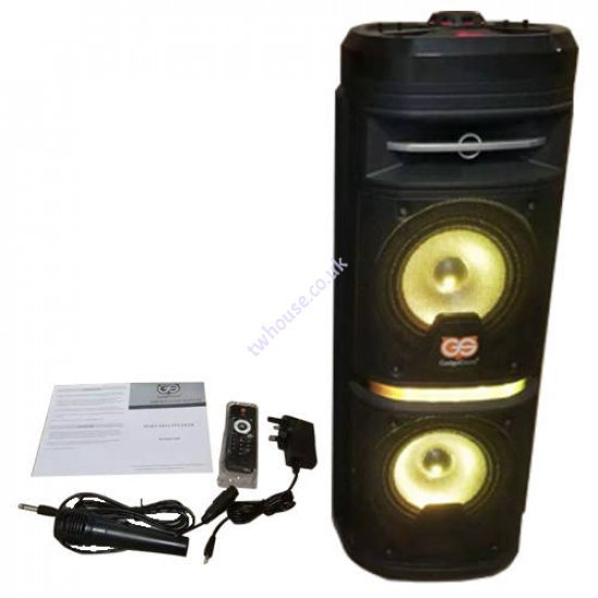 Dual 6 Inch Max Power Bluetooth Party Speaker BT-SPK1300