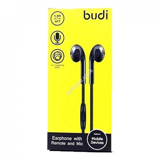 BUDI 102EP Earphone with Remote and Mic