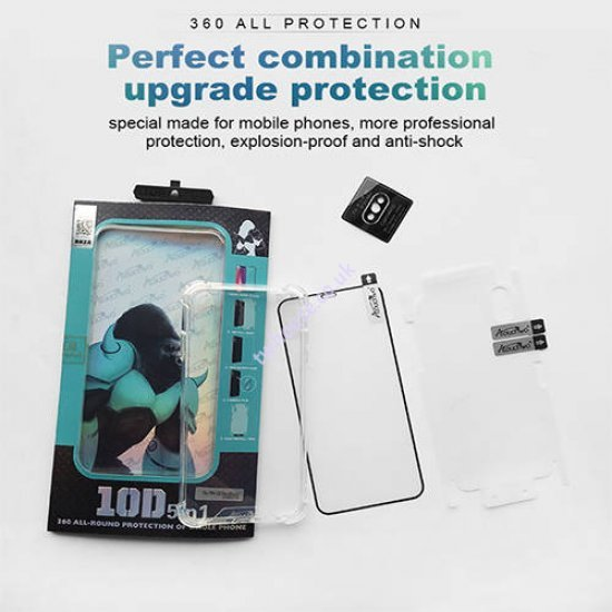 Atouchbo 10D 5 in 1 360 All-Round Protection Case for iPhone XS MAX