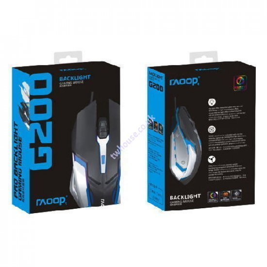 RAOOP G200 Pro Backlight Gaming Mouse