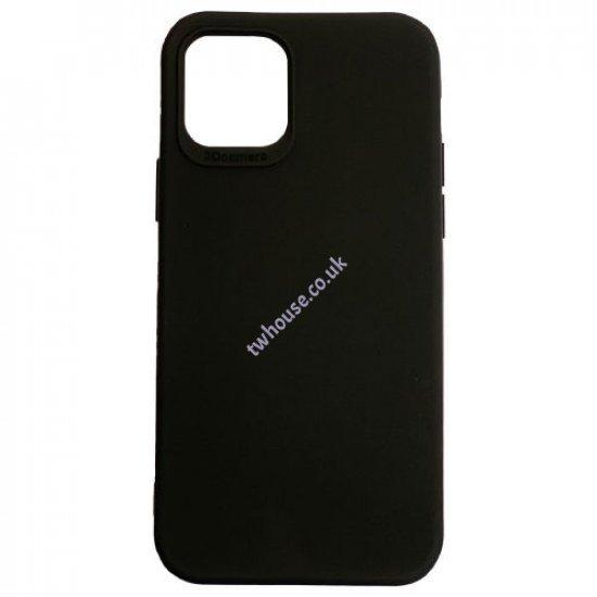 "Plain Black ShockProof Back Cover for iPhone 12 / 12 Pro (6.1"")"