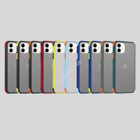 """ZUZU Smoke Shockproof Protective Back Cover Case for iPhone 12 Pro Max (6.7"""")"""