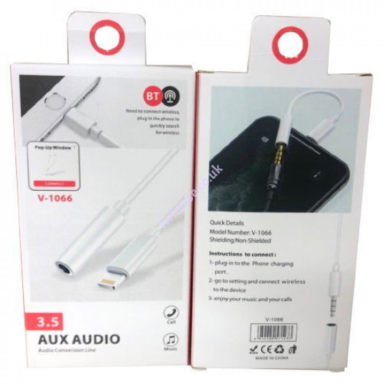 V-1066 AUX Audio Conversion Adapter for iPhone