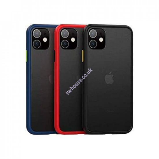 Doyers Smoke Bumper Case with Camera Lens Protection for iPhone XS Max (Black)