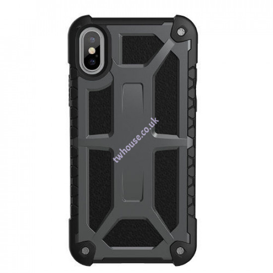 Metallic Military Case for iPhone X/XS