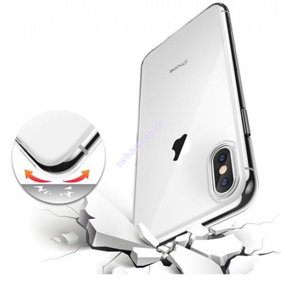 """Clear Gel Case for iPhone 12 Pro Max (6.7"""")"""