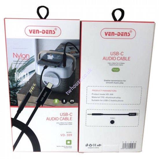 VEN-DENS VD-309 USB-C Audio Cable