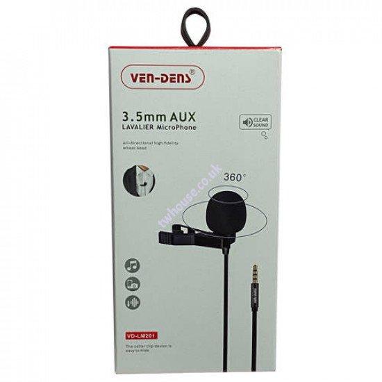 VEN-DENS VD-LM201 3.5mm AUX Lavalier Microphone