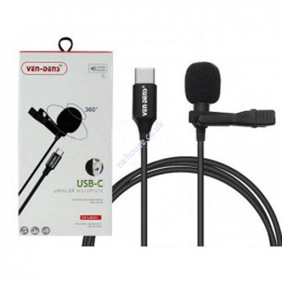 VEN-DENS VD-LM203 USB-C Lavalier Microphone