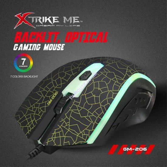 XTRIKE ME GM-206 Wired Gaming Mouse (Black)