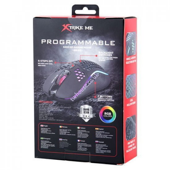 XTRIKE ME GM-512 Wired Gaming Mouse (Black)