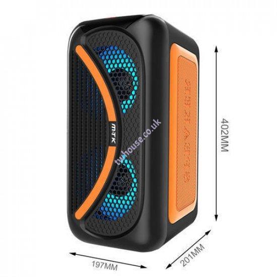 Moveteck TF4161 25W TWS Bluetooth Speaker (Orange)