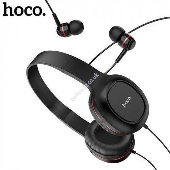HOCO W24 Enlighten wired headphones with mic set with earphones