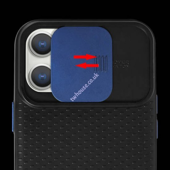 """ZUZU Back Cover Case with Slide Camera Cover for iPhone 12/12 Pro (6.1"""")"""