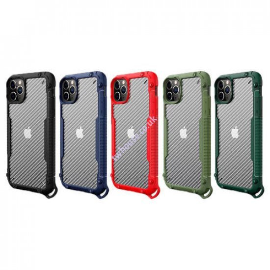 "ZUZU Clear Carbon Fiber Design Armor Case for iPhone 11 (6.1"")"