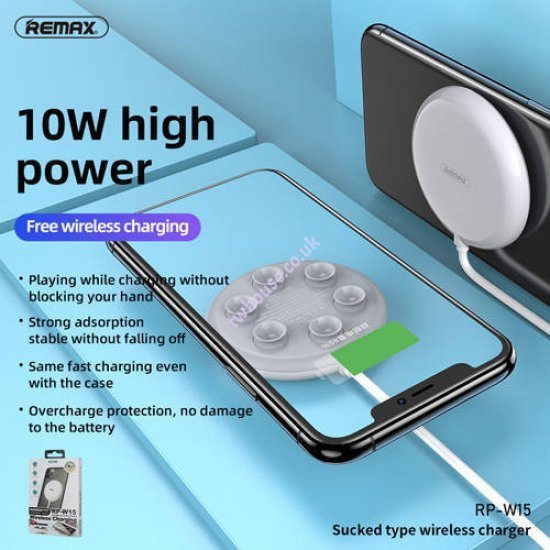 Remax RP-W15 10W Sucked Type Fast Charge Wireless Charger