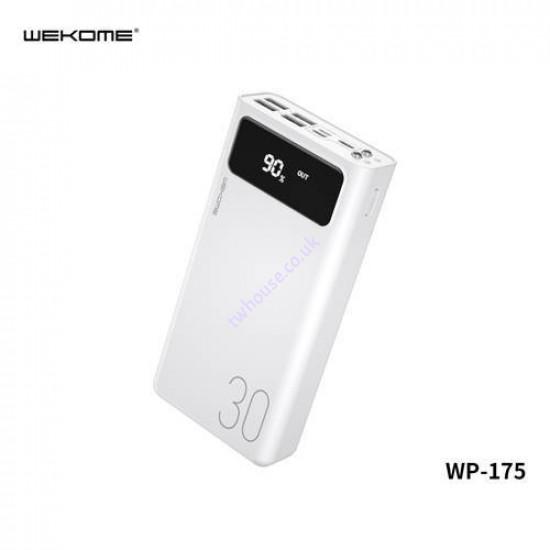 WK Hunergy Series WP-175 30000mAh 4-USB Power Bank (White)