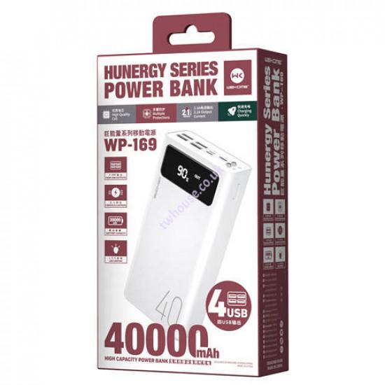 WK Hunergy Series WP-169 40000mAh 4-USB Power Bank (White)