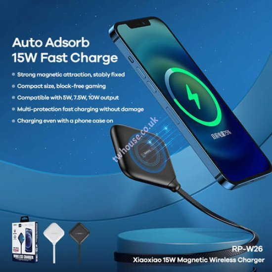 Remax RP-W26 XIAOXIAO 15W Magnetic Wireless Charger for Magsafe