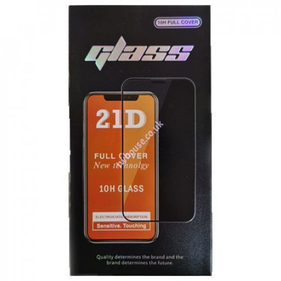 """21D 10H Full Cover Tempered Glass Screen Protector for 12/12 Pro (6.1"""")"""