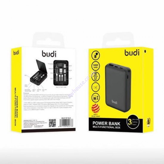 Budi M8J515P 5000mAh Power Bank With Multiple Charger Units