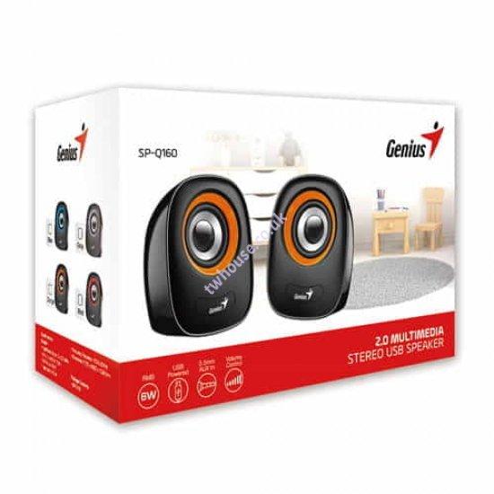 Genius SP-Q160 Stereo Speakers (Orange)