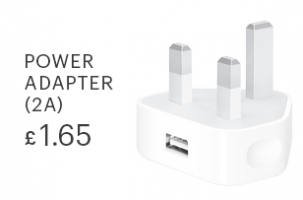2.1A Gadget Store USB Wall plug Adaptor for iPhone 5, 6, 7, Plus, SE, iPad, iPod, Samsung, HTC & Sony
