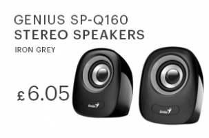 Genius SP-Q160 Stereo Speakers (Iron Grey)
