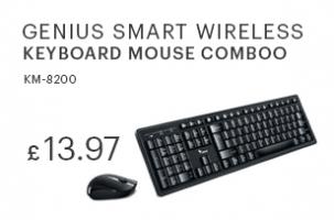 Genius Smart KM-8200 Wireless Keyboard and Mouse Set