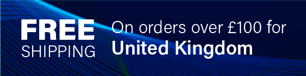 Free Shipping on orders over £100 for United Kingdom
