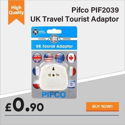 Pifco UK Travel Tourist Adaptor for 90p