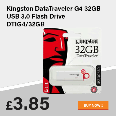 Kingston DataTraveler G4 32GB USB 3.0 Flash Drive DTIG4/32GB