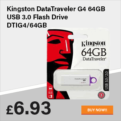 Kingston DataTraveler G4 64GB USB 3.0 Flash Drive DTIG4/64GB